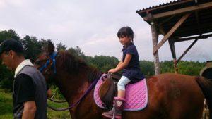 9月11日親子農業体験 引き馬体験